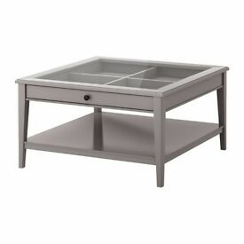 Coffee table LIATORP Grey/glass