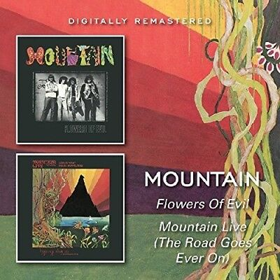 - Mountain - Flowers Of Evil / Mountain Live (The Road Goes On Forever) [New CD] U