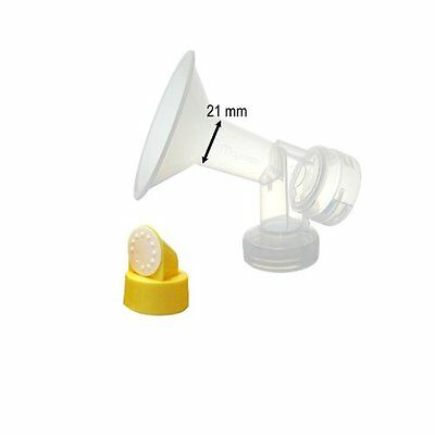 Two 21-mm Maymom Breastshields w/ Valve and Membrane for Medela Breast Pump