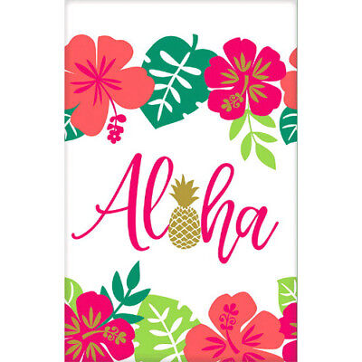 HAWAIIAN LUAU Aloha PAPER TABLE COVER ~ Birthday Party Supplies Decoration Cloth