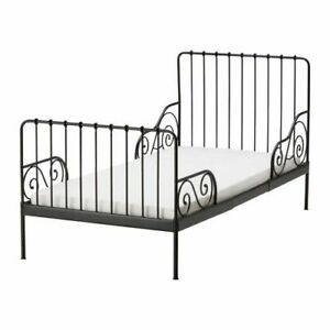 Adjustable black wrought iron ikea toddler bed to full length