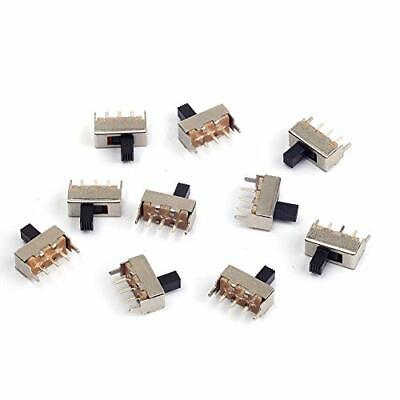 Cylewet 10Pcs 12mm Vertical Slide Switch SPDT 1P2T with 3 Pins PCB Panel for ...