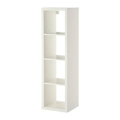 Ikea Kallax 1 x 4 Shelf Unit White 002.758.48 for sale  Battle Ground