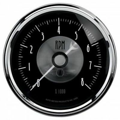 "Auto Meter 2096 3-3/8"" Prestige Black Diamond Electric Tachometer, 0-8,000 RPM"