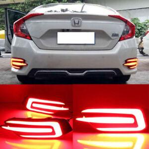 2016-2018 Honda Civic 10th gen sedan rear bumper LED lights