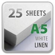 A5 White Card