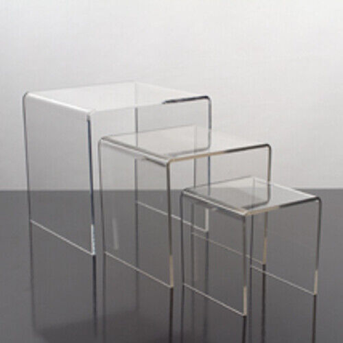 Acrylic Large Display Risers - Set of 3