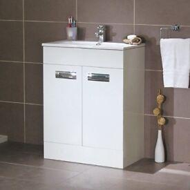 Bathroom Vanity Unit in white - brand new - never used