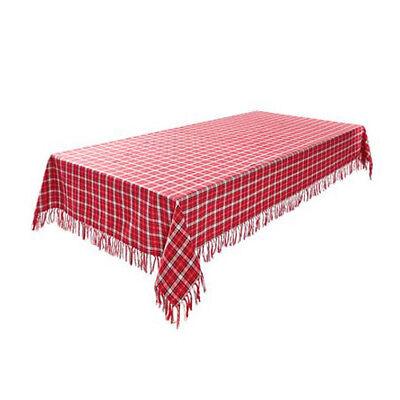 Tischdecke Tischtuch Mitteldecke Kariert Baumwolle 80 x 80 cm Rot (Rot Karierten Tischtuch)