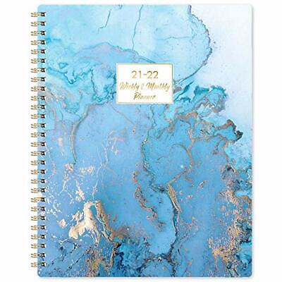 2021-2022 July Academic Daily Planner Weekly Monthly Calendar Organizer Blue