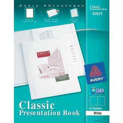 New Avery Classic Presentation Book White 12 Pages - 47671 - Free Shipping
