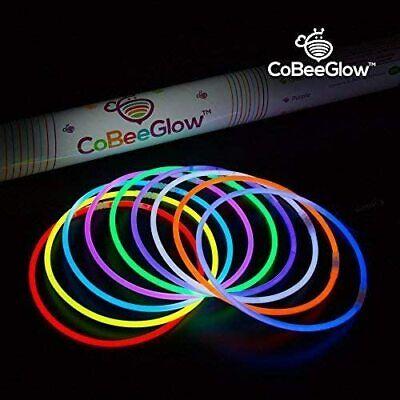 200 Glow Stick Necklaces + Connectors  /   Bulk 22 inch  (9 colors)  8-12 hours