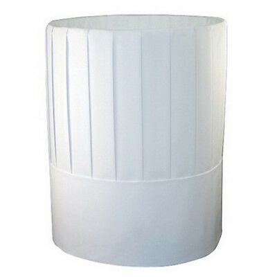 Rpprch10 - Pleated Chefs Hats Paper White Adjustable 10 Tall
