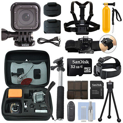 Gopro Hero4 Session 8 Mp Waterproof Action Camera Camcorder   32Gb Action Bundle