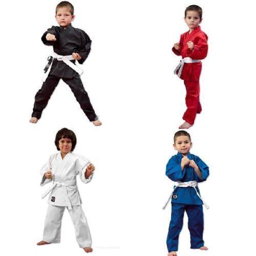 Martial Arts Karate Uniform / Gi Lightweight Student - WHITE, BLACK, BLUE, RED