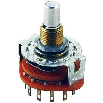 Alpha Taiwan 6 Position 2 Pole Rotary Switch Make Before Break Switching