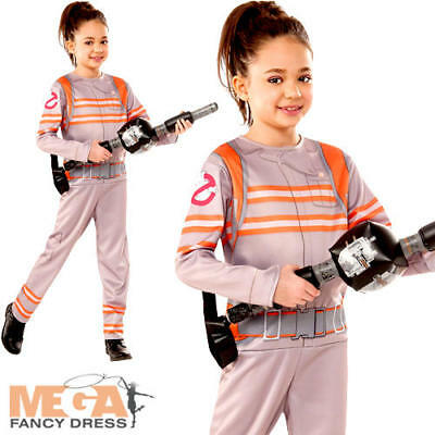 Ghostbusters Girls Fancy Dress Halloween Kids Childrens Movie Costume Outfit New - Ghostbusters Outfit Kids