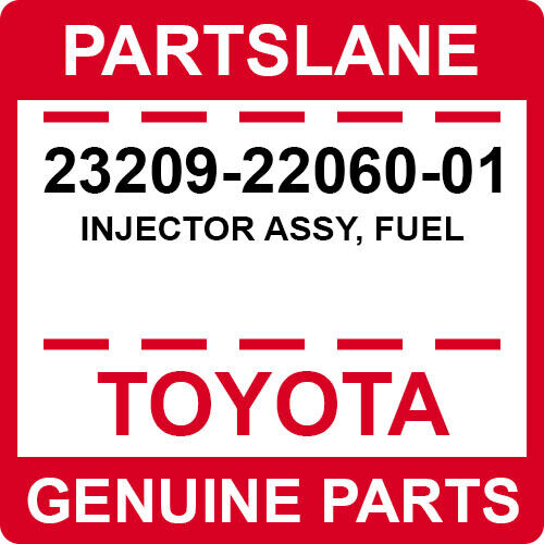 23209-22060-01 Toyota Oem Genuine Injector Assy, Fuel
