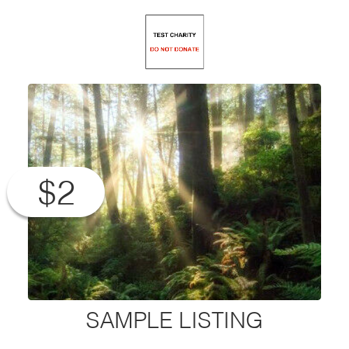 $2 Charitable Donation For: Sample - Not for Sale