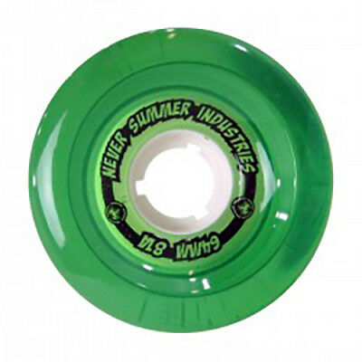 Never Summer Longboard Skateboard Wheels, Green, 64mm - - Never Summer Longboard Skateboard