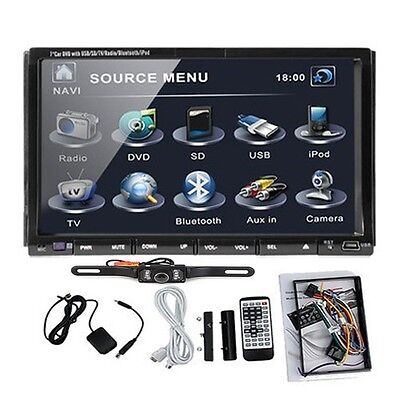 "Camera+7"" 2 DIN In Dash Car Stereo DVD CD Player USB/SD Bluetooth IPOD TV Radio on Rummage"