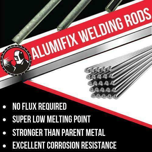 New Super Melt Welding Rods Electrodes Silver Alumifix Flux Cored Low Temp