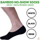 Bamboo No Show Socks for Men