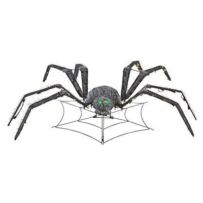 48 in Animated Spider Halloween Decor Haunted House Prop LED Lights (Animated Halloween Spider)