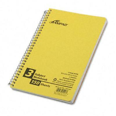 Oxford 3-subject Small Wirebound Notebook - 150 Sheets - 15 Lb Basis Weight - 6