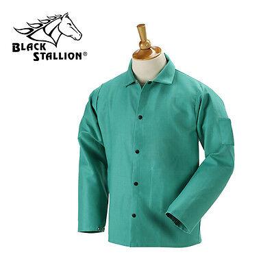 Revco 9 Oz Fr Flame Resistant 30 Green Cotton Welding Jacket Size Medium