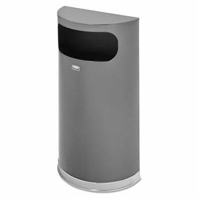 Rubbermaid SO820 9-gal Half Round Waste Container 9 gal Capacity  Half-round