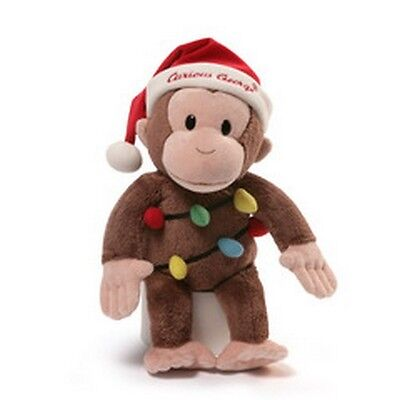 """GUND MONKEY - 12"""" CURIOUS GEORGE - 2016 CHRISTMAS HOLIDAY LIGHTS -  #4053812"""