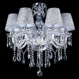 Chandelier light 6 Light Crystal Ceiling Lamp