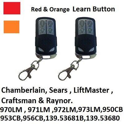 973LM Chamberlain LiftMaster Garage Door Opener Mini Remote Control  390MHZ 2PK