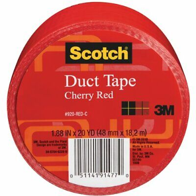 Scotch Duct Tape, Cherry Red, 1.88-Inch by 20-Yard