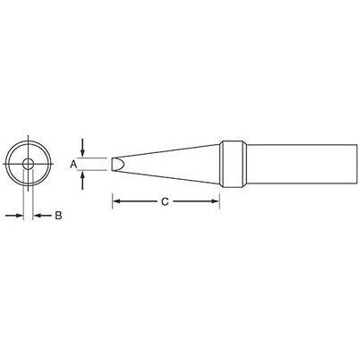 Weller Etaa .062x.040x.625 Et Single Flat Tip