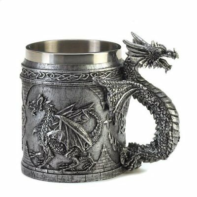 - Decorative Modern Novelty Mug SERPENTINE DRAGON MUG Stainless Steel Lining