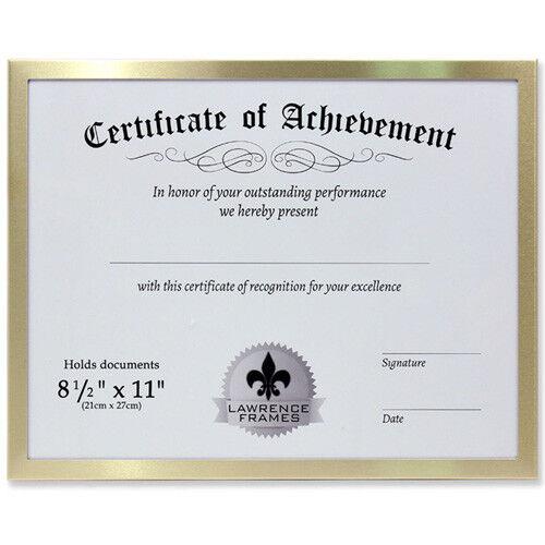 Lawrence 8.5x11 Aluminum Document Frame - Gold