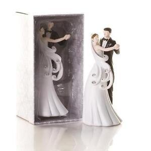 Pastel-topper-paquete-estatuilla-conyuges-danza-estras-estatua-recien-casados