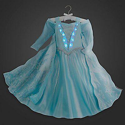 Disney Store Kostüm Leuchtend Elsa Eiskönigin Prinzessinnenkleid Größe 10
