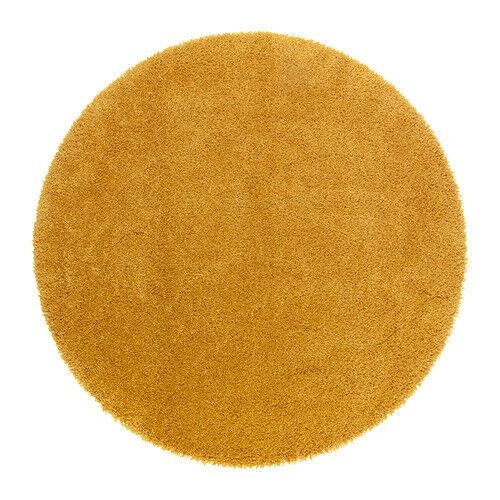 Yellow Round Rug Ikea Adum New Never Used