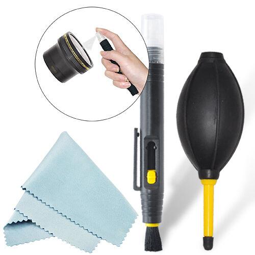 2-In-1 Lens Cleaning Pen + Deluxe Dust Blower Kit For All Cameras & Lenses