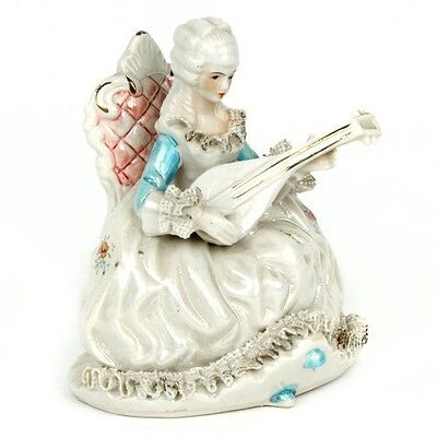 Gorgeous Vtg Mother-of-Pearl Dresden Lace Porcelain French Aristocrat - French Lace Porcelain