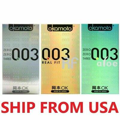 [Okamoto] 003 0.03 condoms PLATINUM / REAL FIT / ALOE(10pcs) SHIP FROM USA