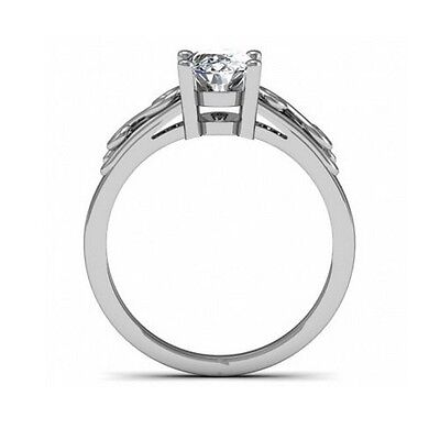 1.5 Ct. Natural Oval Cut Diamond Solitaire Scroll Design Engagement Ring - GIA 2