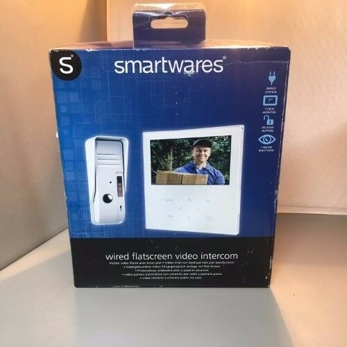 smartwares wired flatscreen intercom system