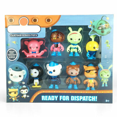 8 Octonauts Action Figures Toys Captain Barnacles Medic Peso Character Toy Gift - Octonauts Peso