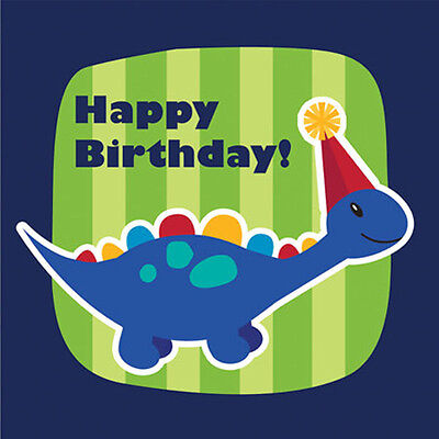 DINOSAURS Little Dino Party LUNCH NAPKINS (16) ~ Birthday Supplies Serviettes - Little Dino Party Supplies