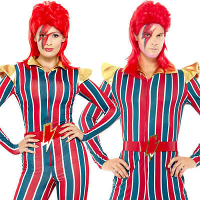 Ziggy Stardust Adults Fancy Dress David Bowie 80s Celebrity Mens Ladies (David Bowie Fancy Dress Kostüme)