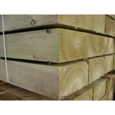 10 X Softwood Railway Sleeper 100mm x 200mm x 2400mm Free Delivery